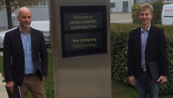 Leverantörsbesök hos Mann+Hummel